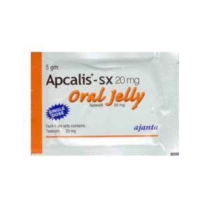 Apcalis SX Oral Jelly (tadalafil) 20mg (10 pills)