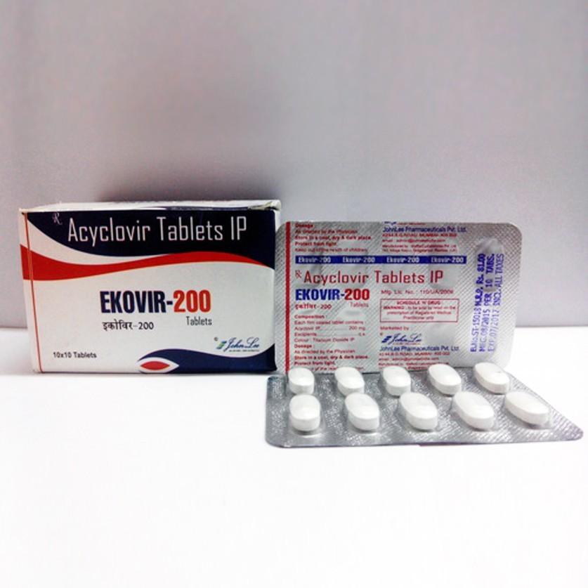 Ekovir (acyclovir) 200mg (30 pills)