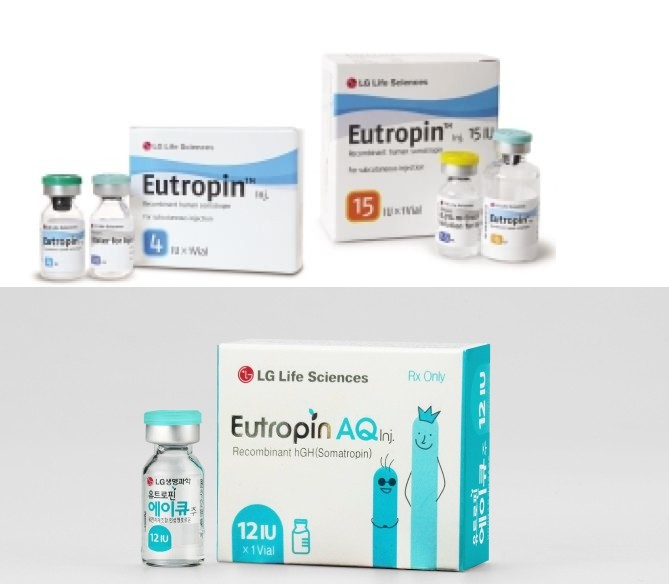 Eutropin LG 4IU (growth hormone) 1 vial of 4IU