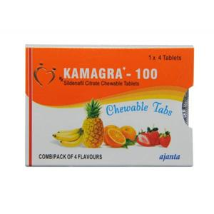 Kamagra Chewable (sildenafil citrate) 100mg (4 pills)
