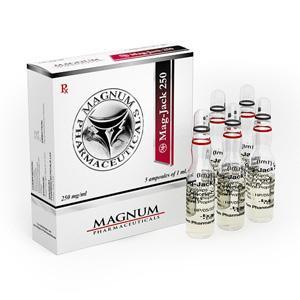 Magnum Mag-Jack 250 (trenbolone acetate, drostanolone propionate, testosterone propionate) 5 ampoules (250mg/ml)