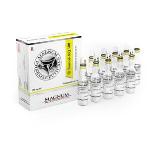 Magnum Stanol-AQ 100 (stanozolol injection) 10 ampoules (100mg/ml)
