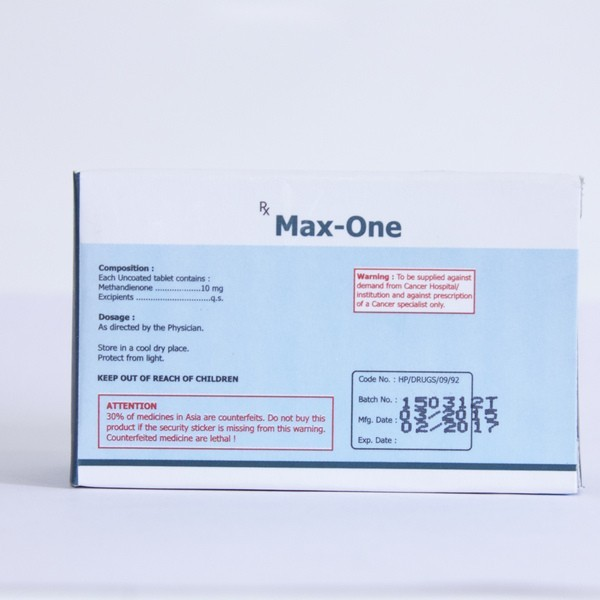Max-One (methandienone oral) 10mg (100 pills)