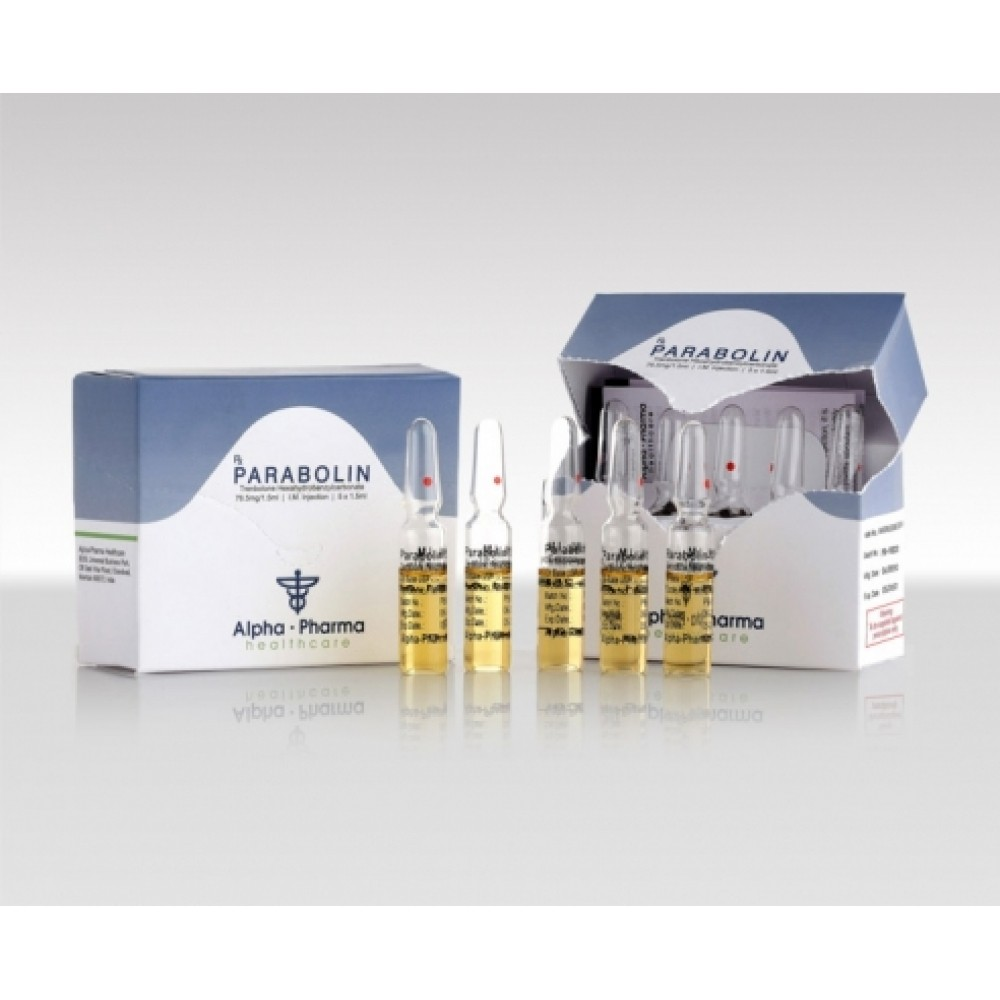 Parabolin (trenbolone hexahydrobenzylcarbonate) 5x1.5ml ampoules (75mg/1.5ml)