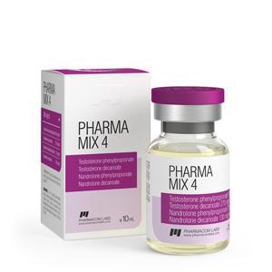 Pharma Mix-4 (testosterone phenylpropionate, testosterone decanoate, nandrolone phenylpropionate, nandrolone decanoate) 10ml vial (600mg/ml)