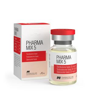 Pharma Mix-5 (trenbolone base, testosterone base, stanozolol base) 10ml vial (100mg/ml)