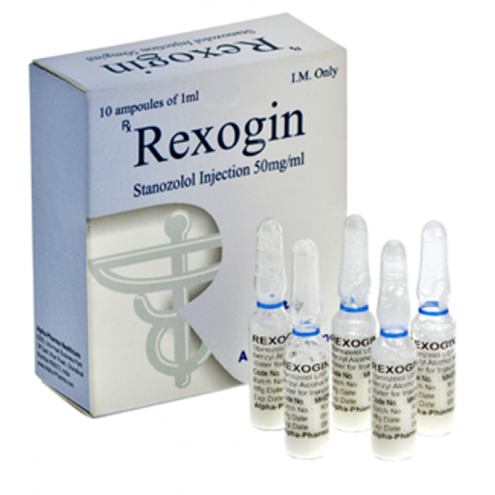 Rexogin (stanozolol injection) 10 ampoules (50mg/ml)
