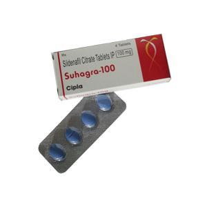 Suhagra 100 (sildenafil citrate) 100mg (4 pills)