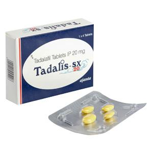Tadalis SX 20 (tadalafil) 20mg (4 pills)