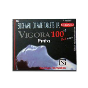Vigora 100 (sildenafil citrate) 100mg (4 pills)